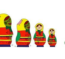 Awesome Zombie Rushing Dolls by ninjahippo1992