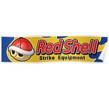 Mario Kart 8 Red Shell Strike Equipment Poster
