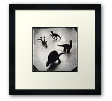 Composition w/ Dinosaurs (2013) Framed Print
