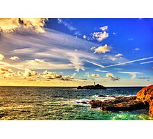 Godrevy Lighthouse Cornwall Photographic Print