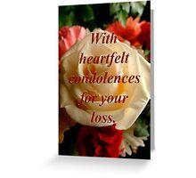 condolences for Carol Greeting Card