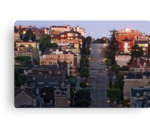 Broadway Street in Pacific Heights Canvas Print