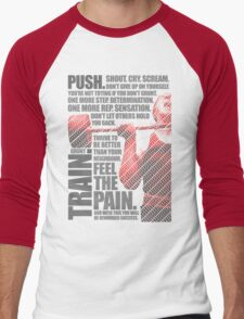Train and Discipline Men's Baseball ¾ T-Shirt