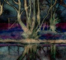 Night Descends On The Pond Sticker