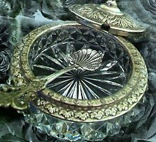 Antique Silver and Glass Salt Dish by CatAstrophe