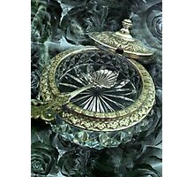Antique Silver and Glass Salt Dish Photographic Print