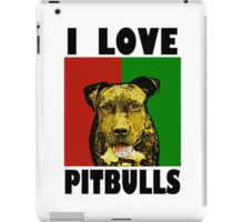 I Love Pitbulls Black Font iPad Case/Skin