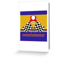 Mario Kart Chequered Flags Greeting Card
