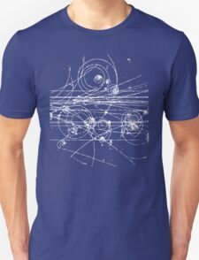 Particle tracks (dark) Unisex T-Shirt