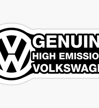 Genuine High Emissions VW Sticker
