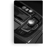 Audi 2013 Console in B&W Canvas Print
