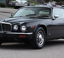 Vintage Jaguar Coupe -Drivers Side by Daniel  Oyvetsky