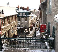 Looking Down Old Quebec Canada by angbet31