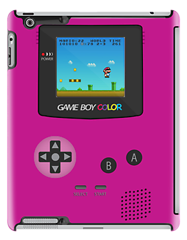 Retro Nintendo Game Boy Super Mario Girly Pink  iPad Case / iPhone 5 Case / iPhone 4 Case / T-Shirt / Samsung Galaxy Cases    by CroDesign
