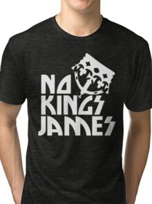 NO KINGS JAMES LOGO WHITE Tri-blend T-Shirt