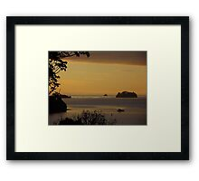 Yellow summer sunset - Baddeleys Beach Framed Print