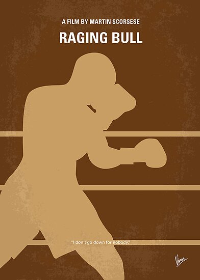 No174 My Raging Bull minimal movie poster by Chungkong