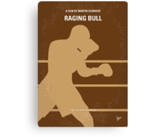 No174 My Raging Bull minimal movie poster Canvas Print