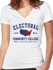 Electoral Community College-2 Women's Fitted V-Neck T-Shirt