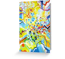 Birth of the Circle - Abstract Acrylic Canvas Painting Greeting Card