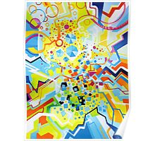 Birth of the Circle - Abstract Acrylic Canvas Painting Poster