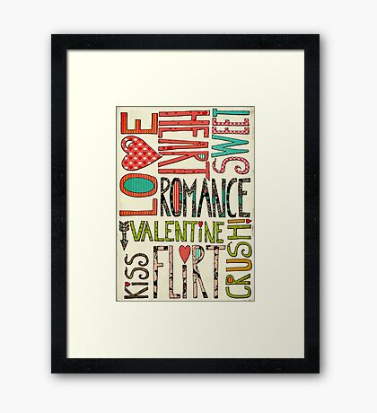 My Romantic Valentine Framed Print