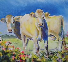 Cow Painting by MikeJory