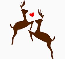 ۞»♥Adorable Jumping Deer Couple Clothing & Stickers♥«۞ Mens V-Neck T-Shirt