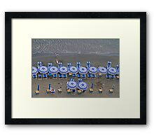 Black Beach Framed Print