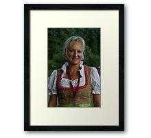 Frau in Dirndl  Framed Print
