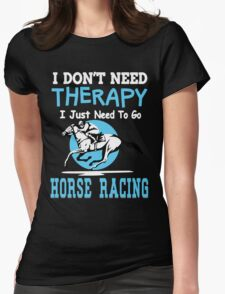 HORSE RACING Womens Fitted T-Shirt