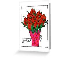 Dozen Red Roses Greeting Card