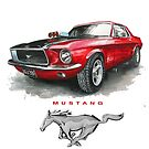 MUSTANG MUSCLE CAR T SHIRT by JohnLowerson