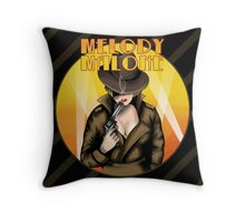 Melody Malone Throw Pillow