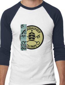 """""""Pape 2"""" for Wine Geeks Men's Baseball ¾ T-Shirt"""