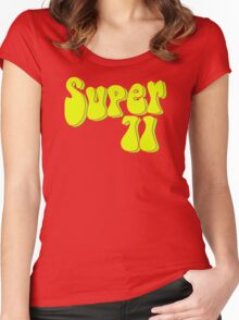 Super 71 - Yellow Women's Fitted Scoop T-Shirt