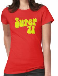 Super 71 - Yellow Womens Fitted T-Shirt