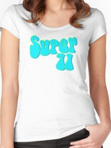 Super 71 - Blue Women's Fitted Scoop T-Shirt
