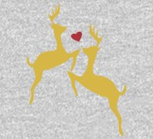 ۞»♥Adorable Jumping Deer Couple Clothing & Stickers♥«۞ One Piece - Long Sleeve