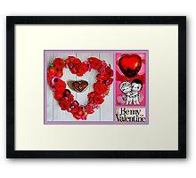 Valentine Collage Framed Print