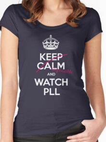 Keep calm and..pretty little liars! (white) Women's Fitted Scoop T-Shirt