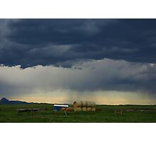 Stormy skies, Montana Photographic Print