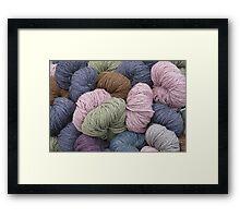 Waiting for the Knitter's Hand Framed Print