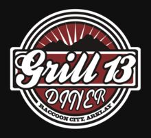 Grill 13, Raccoon City - Resident Evil Diner Tee by LittleDoll