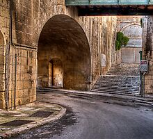 Leaving Victoria Gate --- Valletta, Malta by Edwin  Catania