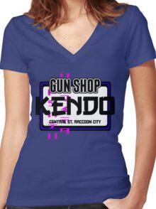 Kendo Gun Shop, Raccoon City - Resident Evil Tee Women's Fitted V-Neck T-Shirt
