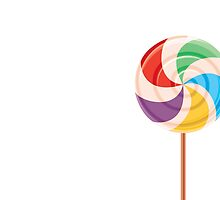 Colorful Lollypop on White by rusanovska