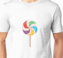 Colorful Lollypop on White Unisex T-Shirt