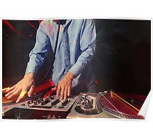 cool urban dj close-up  Poster