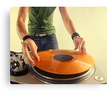 cool urban dj close-up  Metal Print